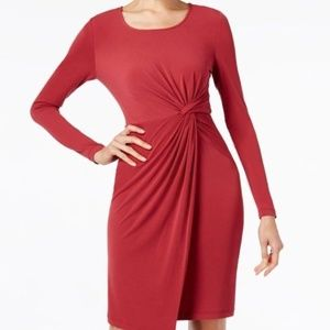 Catherine Malandrino  Front-Twist Sheath Dress